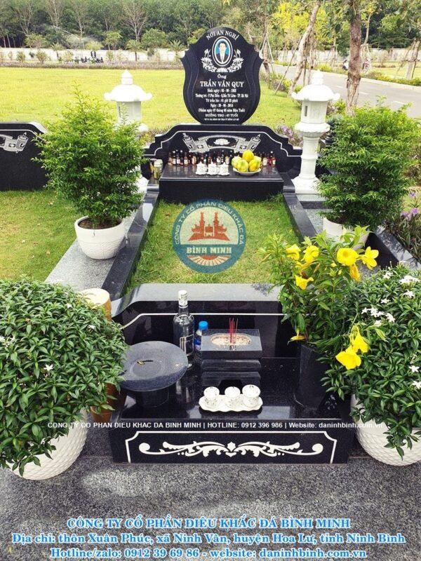 Mẫu mộ đá hoa cương đẹp Công ty Bình Minh thiết kế