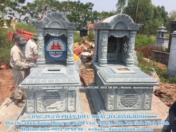 Mẫu mộ đá mái vòm Công ty Bình Minh thi công