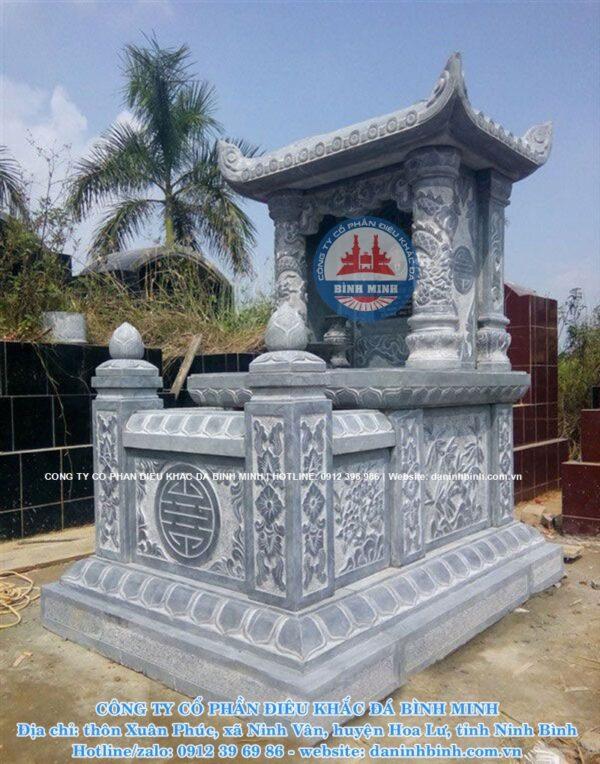Mẫu mộ đá một mái Công ty Bình Minh thi công