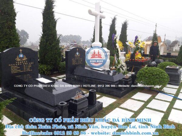 Mộ công giáo đá hoa cương, mộ đá Bình Minh