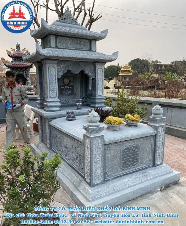 Mộ đá hai mái Công ty Bình Minh thi công