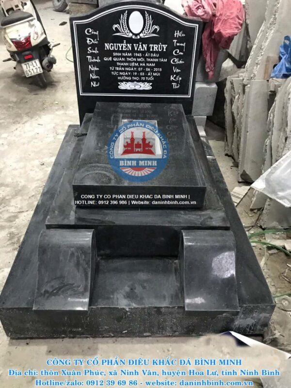 Mộ đá hoa cương granite Công ty Bình Minh thi công