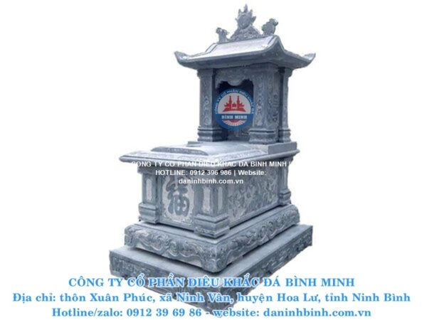 Mộ đá một mái Bình Minh thiết kế