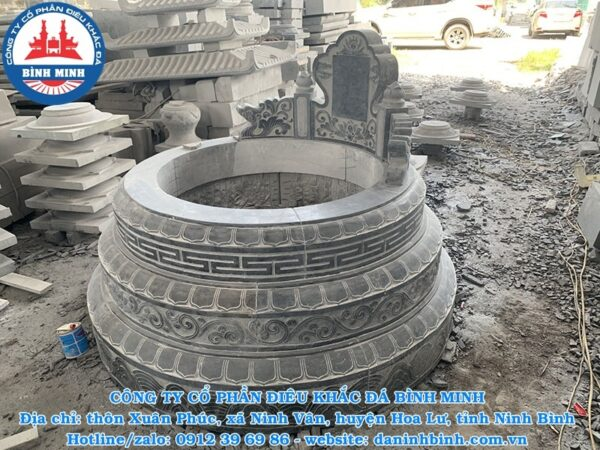 Mộ đá tròn Công ty Bình Minh sản xuất