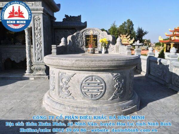 Mộ đá tròn nguyên khối Công ty Bình Minh