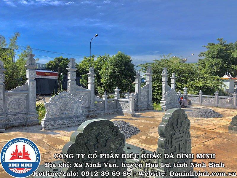 Một góc khu lăng mộ đá đôi tại Nam Định