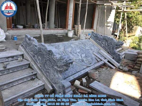 Rồng đá bậc thềm 5 bậc Công Ty Bình Minh