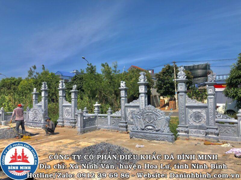 Thi công khu lăng mộ đá đôi tại Nam Định