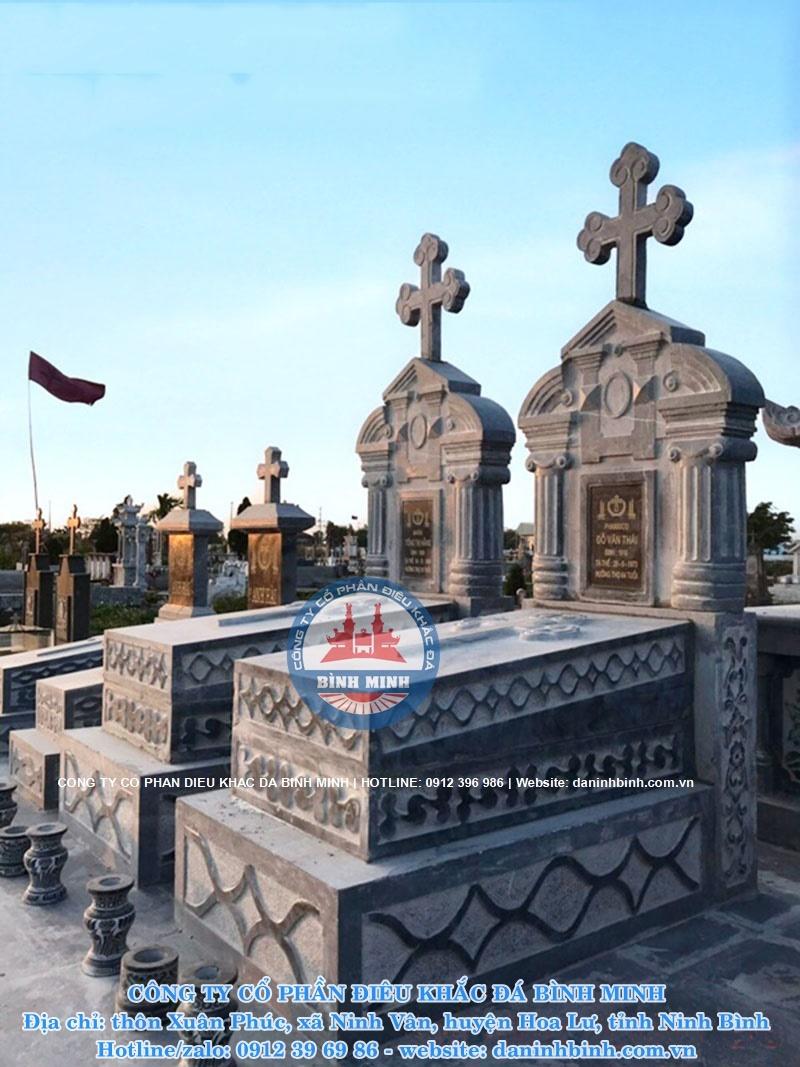 mẫu mộ đá thiên chúa giáo đẹp tại quảng ninh