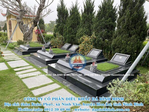 Thi công mộ đá hoa cương granite Công ty Bình Minh