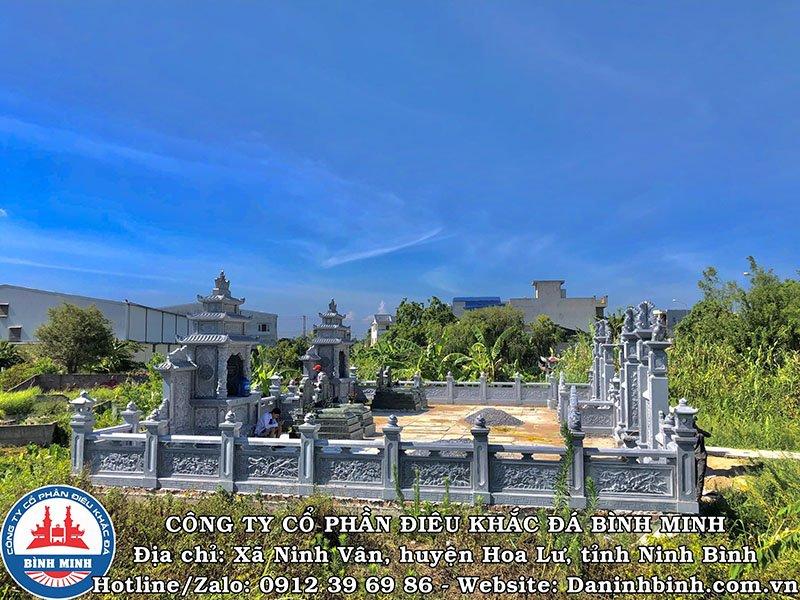 Toàn cảnh khu lăng mộ đá tại Nam Định