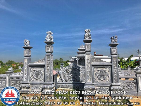 Trụ biểu đá khu lăng mộ cao cấp