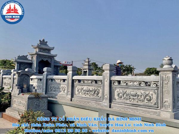 Tường rào khu lăng mộ đá xanh Thanh Hóa cao cấp