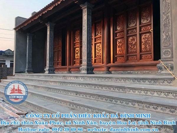 Thi công bậc tam cấp đình, đền, chùa
