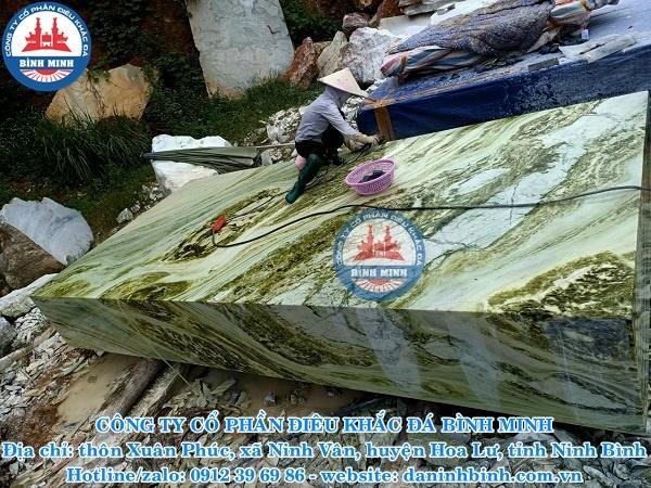 Sập đá ngọc cẩm thạch nguyên khối Đá mỹ nghệ Bình Minh