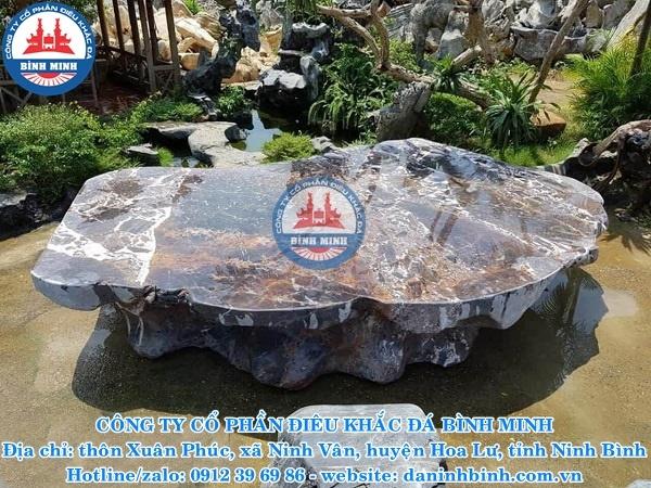 Sập đá tự nhiên nguyên khối Đá mỹ nghệ Bình Minh